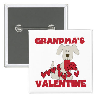 Puppy Grandma's Valentine T-shirts and Gifts Buttons