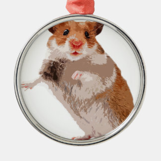 Puppy Hamster Metal Ornament