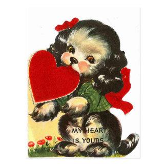 Puppy Heart | Vintage Valentine | Postcard