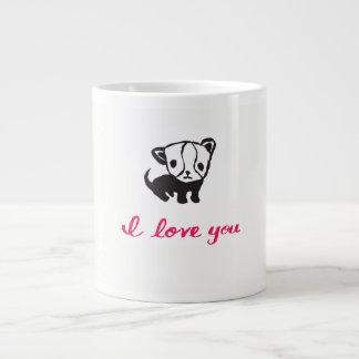 Puppy I Love You Large Coffee Mug