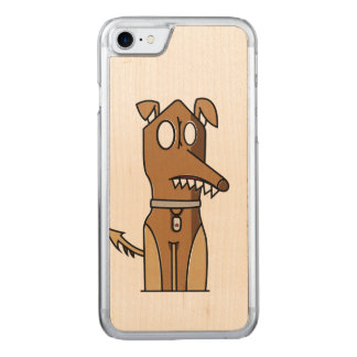 Puppy Illustration Carved iPhone 7 Case