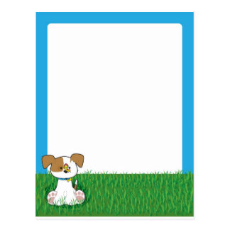 Puppy in Grass Post Card