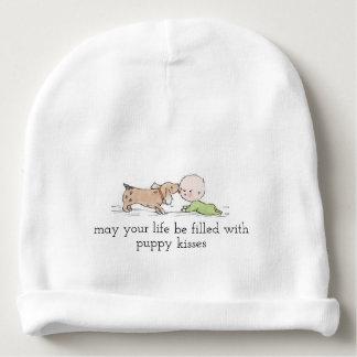 Puppy Kisses Baby Cotton Beanie Baby Beanie