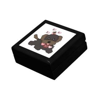 Puppy Kisses Small Square Gift Box