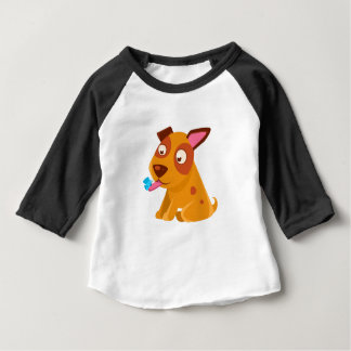 Puppy Looking At A Butterfly On Its Tongue Baby T-Shirt