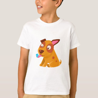Puppy Looking At A Butterfly On Its Tongue T-Shirt