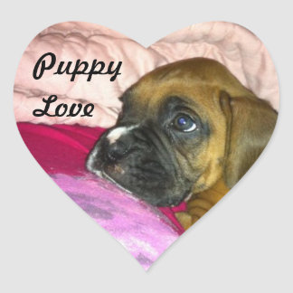 Puppy Love Boxer Sticker Dexter