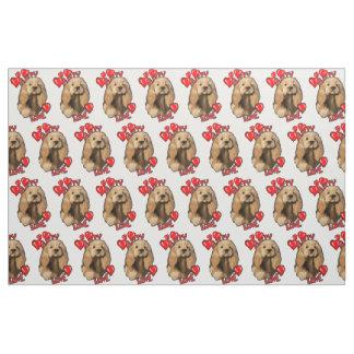 Puppy Love Cocker Spaniel Fabric