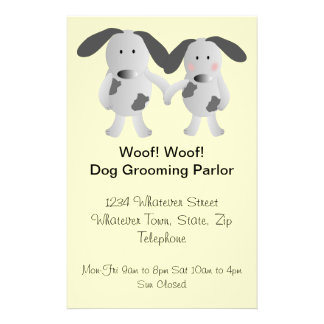 Puppy Love Dog Grooming Parlor Flyer