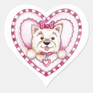 Puppy Love Heart Sticker