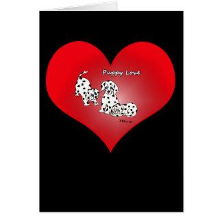 Puppy Love Heart Valentine Card