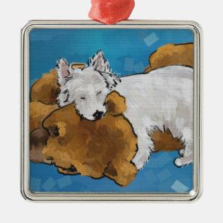 Puppy Love Metal Ornament