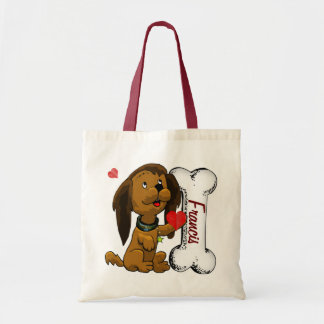 Puppy Love PERSONALIZED Tote Bag