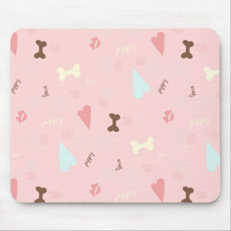 Puppy Love Pink Lemonade Mouse Pad
