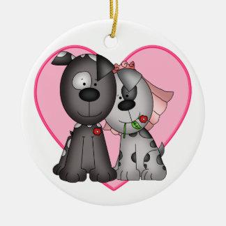 Puppy Love - SRF Round Ceramic Decoration