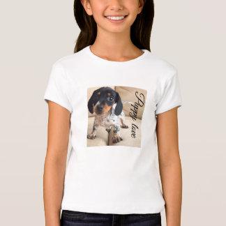 Puppy love T-shirt for girls.