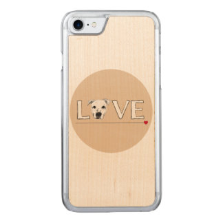 Puppy Love Text Art Carved iPhone 8/7 Case