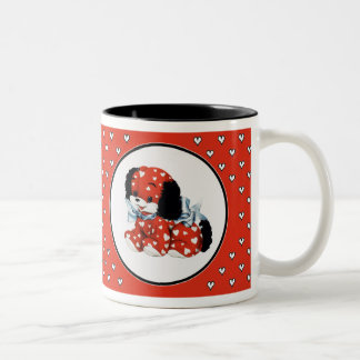 Puppy Love. Valentine´s Day Gift Two-Tone Mug