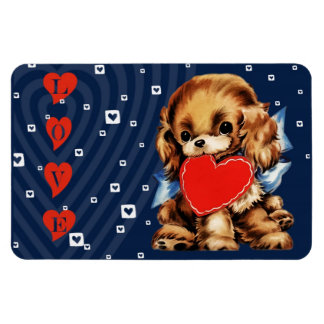 Puppy Love. Valentine's Day Gift Magnet