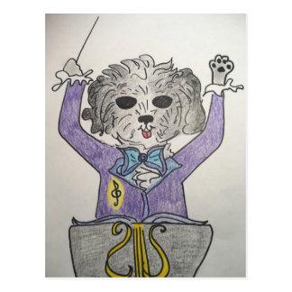 Puppy Maestro Postcard