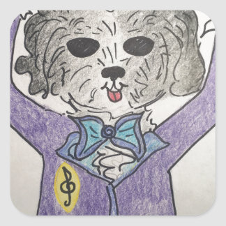 Puppy Maestro Square Sticker
