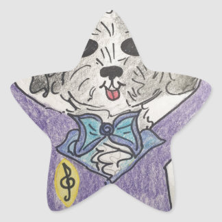 Puppy Maestro Star Sticker