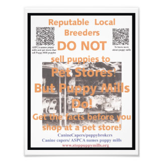 Puppy Mill Awareness Poster