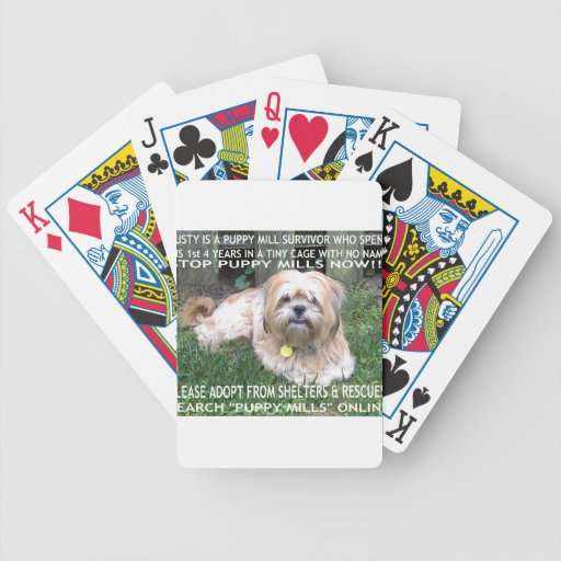Puppy Mill Survivor - Give Mill Dogs a 2nd Chance! Bicycle Poker Deck