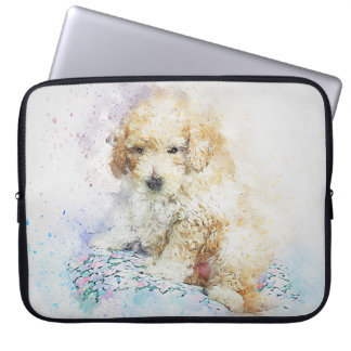 Puppy of Poodle Laptop Sleeve