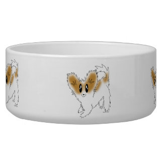 Puppy Papillon Dog Food or Water Bowl