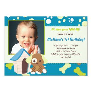PUPPY PARTY Invitations - Boy