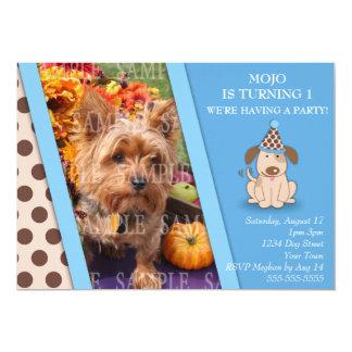 Puppy Party Photo Template 13 Cm X 18 Cm Invitation Card