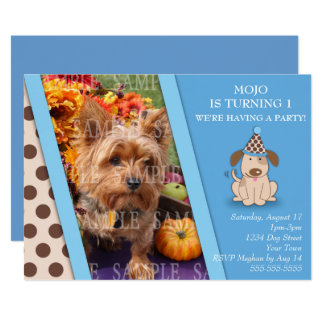Puppy Party Photo Template Card