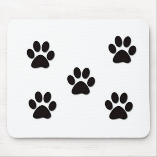 Puppy Paw Prints Mouse Pad