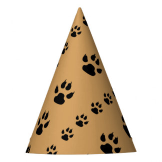 Puppy Paw Prints Party Hat