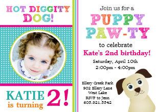 Puppy birthday invitations announcements zazzle puppy paw ty birthday party invitation filmwisefo