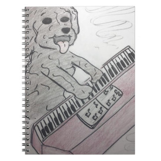 puppy piano notebook