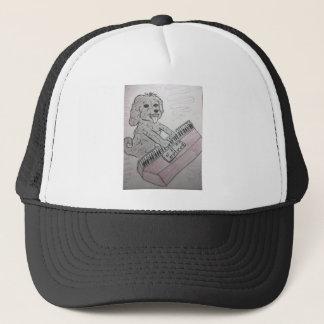 puppy piano trucker hat
