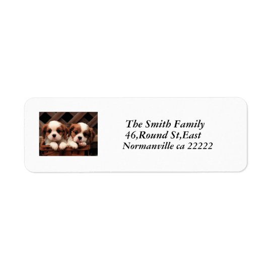 Puppy Pictures Addressed Label