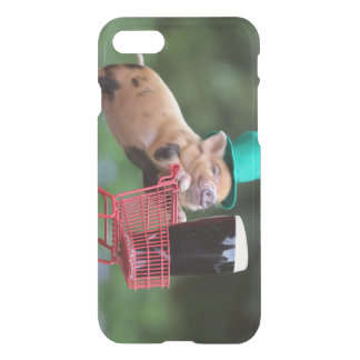 Puppy pig shopping cart iPhone 7 case
