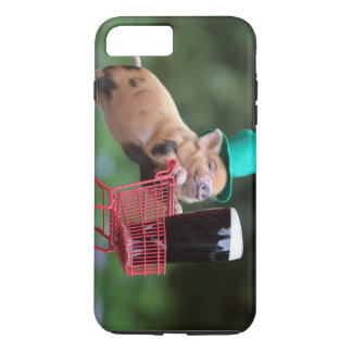 Puppy pig shopping cart iPhone 7 plus case