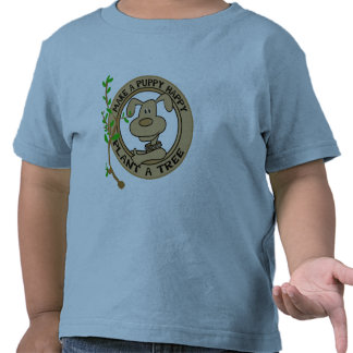 Puppy Plant a Tree Tshirts and Gifts