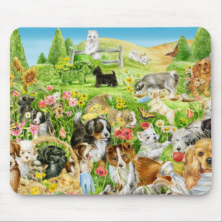Puppy Play Mouse Pad
