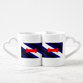 Puppy Play Pride Flag Lovers' Mug Set