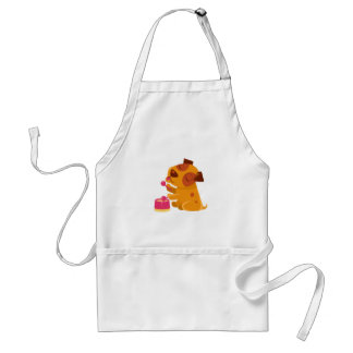 Puppy Playing Drums And Singing Standard Apron