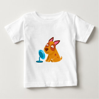 Puppy Playing With Fan Blowing In Its Face Baby T-Shirt