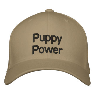 Puppy Power Embroidered Hat