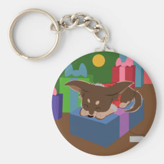 Puppy Present Key Ring