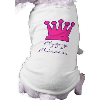 Puppy Princess Crown Doggy Shirt Sleeveless Dog Shirt