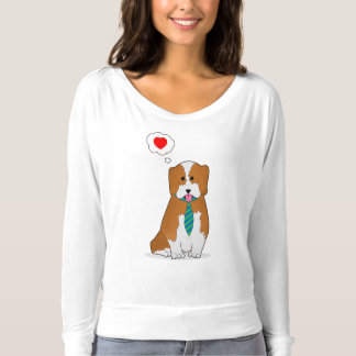 Puppy showing love T-Shirt